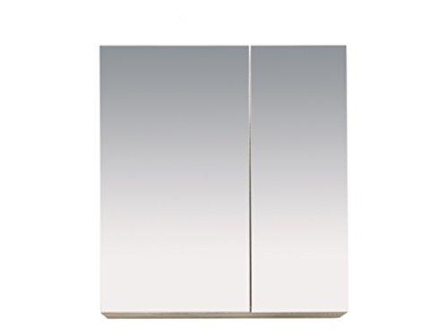 POR40301 Bad Spiegelschrank Seiten Eiche Sägerau Melamin Nachbildung, BxHxT 65x70x21 cm