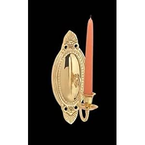 Amazon.com: Wall Lamps Bright Brass, Candle Wall Sconce Brass 9 1 ...
