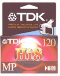 TDK MP120 Hi-8 Video Cassette