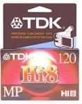 TDK MP120 Hi-8 Video Cassette (Discon...