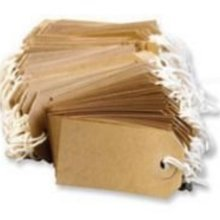 50 Buff Strung Tags 96mm x 48mm