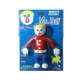 5 Inch Cartoon Character Mr. Bill Bendable Rubber Figurine Toy