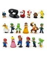 Super Mario Bros Figure Toy 18pcs Doll 1-3 Action Figure
