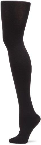 Hue Women's Super Opaque Sheer To Waist Tight, Black,Size 2
