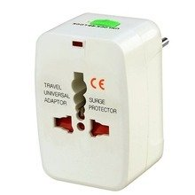 Stackfine World Wide Travel Charger Adapter Plug, White