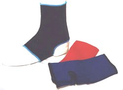 Blue ankle braces