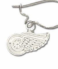 Logoart Detroit Red Wings Sterling Silver Dangle Earrings
