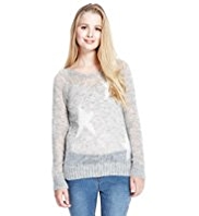 Angel Open Knit Star Jumper with Wool