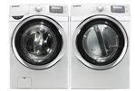 Samsung Neat White 5.0 Cu Ft Steam Washer and 7.5 Steam GAS Dryer WF520ABW_ ....