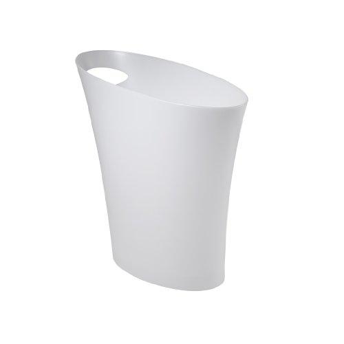 Waste Can, Metallic White