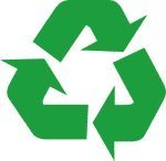 "RECYCLE symbol 5"" GREEN Vinyl Decal W..."