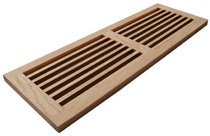 Welland 8 Inch x 32 Inch Maple Hardwood Register Cold Air Return Wall Vent Unfinished