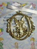 Cathedral Art CM1W Angel Protecting Children Baby Crib Medal for Jewelry Making, 3-Inch