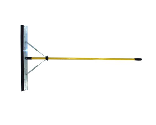 "Nupla EZS536 Squeegee with Rubber Blade and Butt Grip, 36"" Width, 66"" Classic Handle"