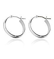 M&S Collection Silver Plated Hoop Earrings