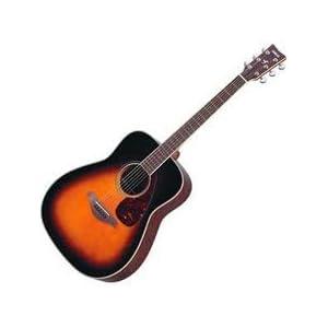 Yamaha Sunburst Acoustic Guitar