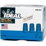 Ideal 30-072 300 Volt Thermoplastic Twist On Wire Connector Blue Pack of 1000, Blue
