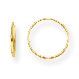 Genuine IceCarats Designer Jewelry Gift 14K 1Mm Hoop Earrings