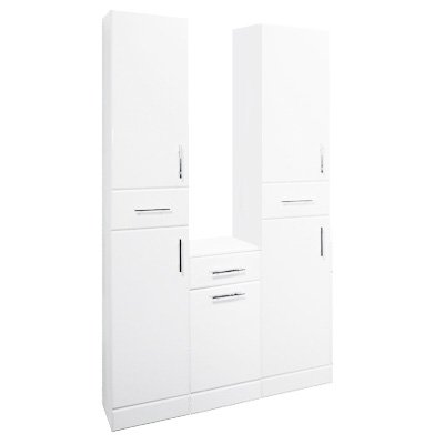 White Gloss Tall Boy Units and Laundry Unit