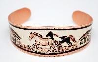 Copper Horse Bracelet