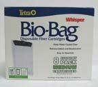Tetra Whisper Unassembled Bio-Bag Cartridges (Medium, 8-Pack)