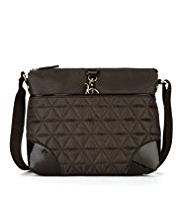 M&S Collection Quilted Piped Cross-Body Bag