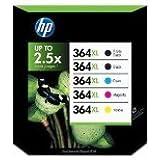 Pack 5 cartouche d'encre HP N°364 XL Noir et Couleurs