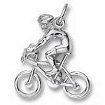 Rembrandt Charms Cyclist Charm - Sterling Silver