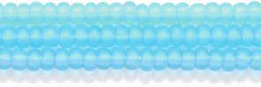 Preciosa Ornela Czech Matte Seed Bead, Transparent Medium Light Aqua, Size 10/0