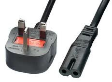 Power Parts C7 (Figure of Eight) Power Cord for Laptop Adapter/Charger