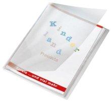 Veloflex 4412290 Sichtbuch Crystal, DIN A4, 12 Hüllen, Streifenoptik, transparent