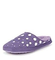 Per Una Embroidered Spot Mule Slippers
