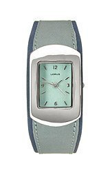 Lorus Ladies Blue Strap Silver Tone Watch LR1097