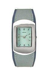 Lorus Ladies Blue Strap Silver Tone Watch LR1097