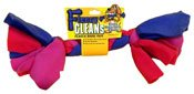 New Kyjen Fleecy Clean Bone Dog Toy Large 14 Inch Soft Nontoxic Helps Clean Teeth Gums