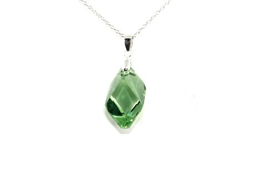 Swarovski Crystal 22mm Cubist Necklace Pendant - Peridot