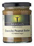 Meridian Peanut Butter Crunchy, Organic 6x280g