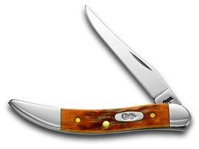 CASE XX Chestnut Bone CV Tiny Toothpick Pocket Knife Knives