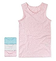 3 Pack Autograph Superfine Pure Cotton Vests