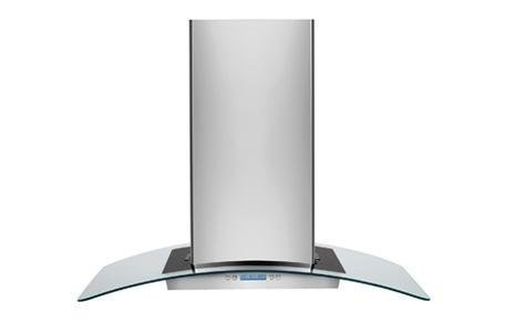 """Electrolux Rh36Pc60Gs 36"""" Designer Island-Mount 600 Cfm Range Hood With Glass Canopy, Stainless Steel"""