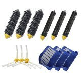 SHP-ZONE Aero Vac Filter & Bristle Brush & Flexible Beater Brush & 3-Armed Side Brush Pack Replenishment Mega Kit for iRobot Roomba 600 Series (620 630 650 660 680) Vacuum Cleaning Robots (Roomba Beater compare prices)