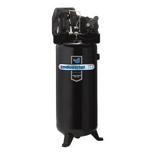 Learn More About Industrial Air ILA3606056 60-Gallon Hi-Flo Single Stage Cast Iron Twin Cylinder Air...