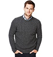 XXXL Blue Harbour Extrafine Pure Lambswool Twisted Cable Knit Jumper