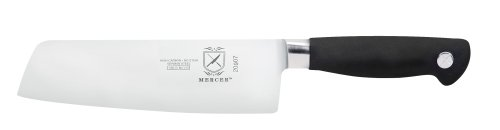"Mercer Culinary Genesis 7"" Forged Usuba Vegetable Cleaver, Steel/Black"