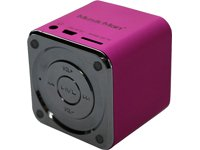 MusicMan TXX3531 Mini Soundstation (MP3 Player, Stereo Lautsprecher, Line In Funktion, SD/microSD Kartenslot) pink