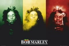 Scorpio Bob Marley Smoke Wall Poster