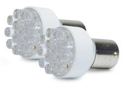 Roadpro Rp1156Led/2 Clear #1156 Led Super Bright Replacement Bulb, (Pack Of 2)
