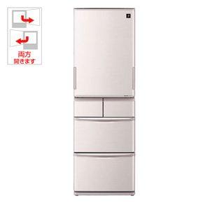 シャープ 424L 5ドア冷蔵庫(シルバー系)SHARP プラズマクラスター冷蔵庫 どっちもドア SJ-PW42X-S