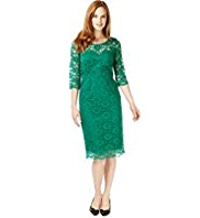 M&S Collection Floral Lace Shift Dress