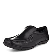Square Toe Slip-On Shoes